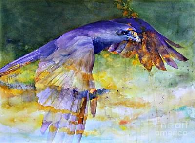 Blue Bird Art Print by Janet Moss