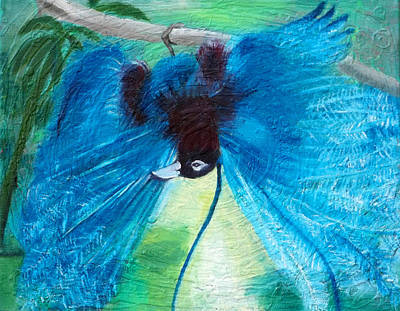 Painting - Blue Bird Of Paradise by Anne Cameron Cutri