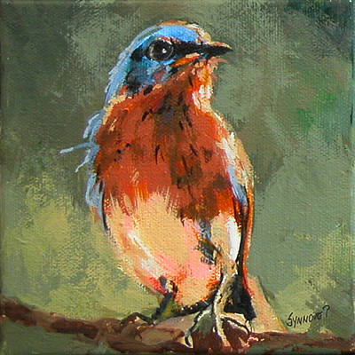 Painting - Blue Bird by Synnove Pettersen