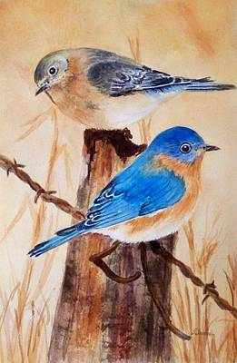 Painting - Blue Birds  by Deane Locke