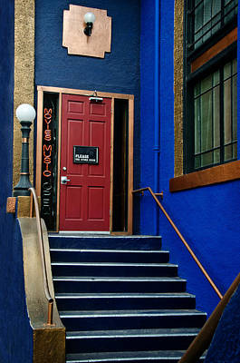 Photograph - Blue Bisbee Stairwell by Dave Dilli