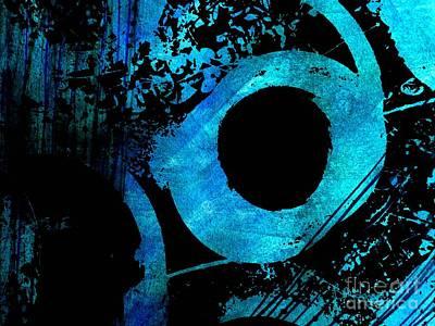 Photograph - Blue Black Abstract by Barbara Moignard