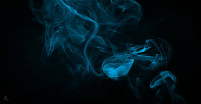 Photograph - Blue Black Smoke by Kelly Smith