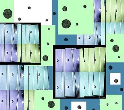 Digital Art - Blue Blitz by Ann Calvo