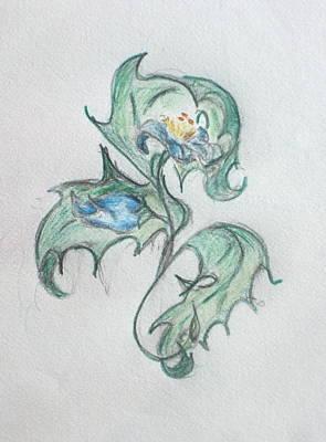 Blue Blossom 2 Art Print