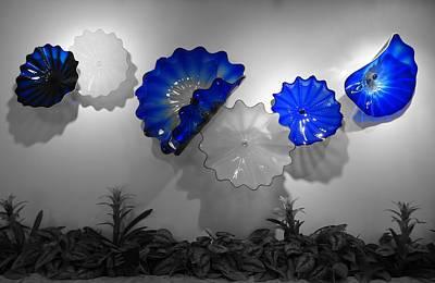 Art Blown Glass Photograph - Blue Blown Glass by Dan Sproul
