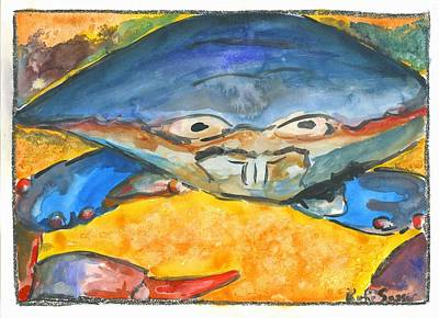 Painting - Blue Blue Crab by Katie Sasser
