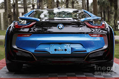 Photograph - Blue Bmw I8 by Dennis Hedberg