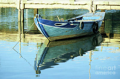 Blue Boat 01 Art Print by Rick Piper Photography