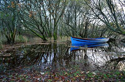 Photograph - Blue Boat by Barbara Walsh