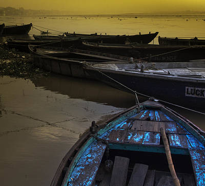 Gangi Photograph - Blue Boat by Kabir Ghafari