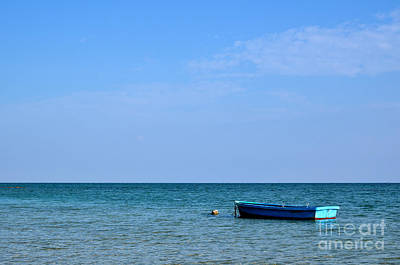 Photograph - Blue Boat by Kennerth and Birgitta Kullman