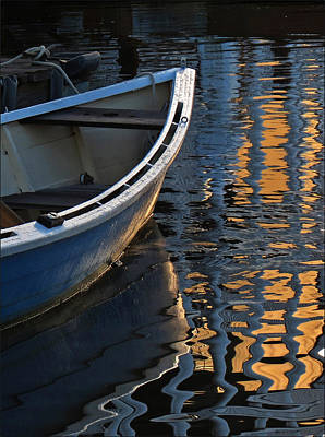 Photograph - Blue Boat Morning by Deborah Smith