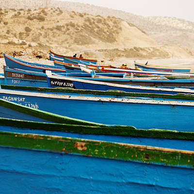 Photograph - Blue Boats by David Davies