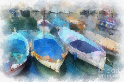Photograph - Blue Boats by Susan Moss