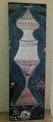 Moroccan Vase Painting - Blue Body Urn by Cheryl Turner-Hunt