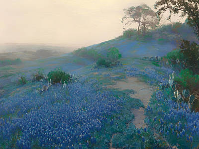 Concept Painting - Blue Bonnet Field In San Antonio by Mountain Dreams