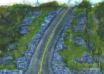Painting - Blue Bonnet Road by Lynn Babineau