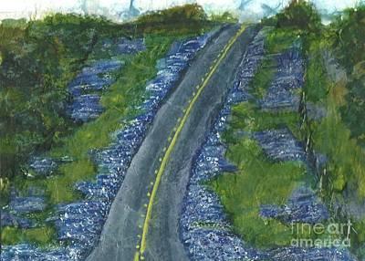Painting - Blue Bonnet Road by Lynn Babineau