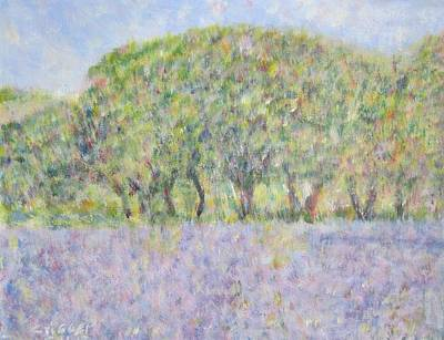 Blue Bonnets  Field In  Texas Art Print