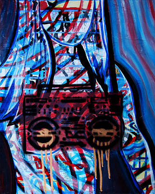 Mixed Media - Blue Boob Box by Khryztof Holtwick
