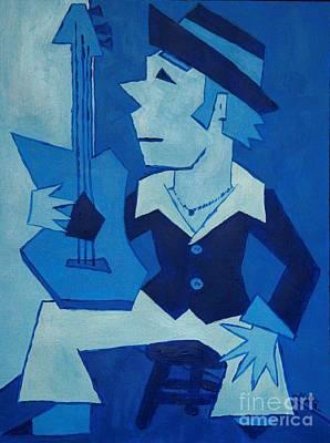 Bossa Nova Painting - Blue Bossa by Cris Motta