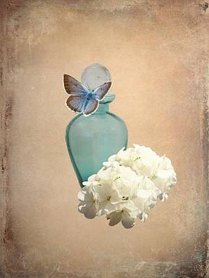 Blue Bottle Art Print