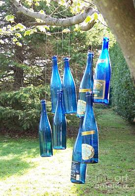 Photograph - Blue Bottle Tree by Jackie Mueller-Jones