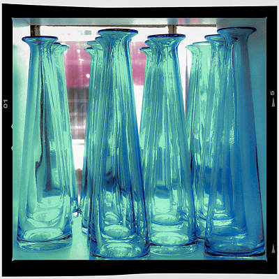 Art Print featuring the photograph Blue Bottles by Craig Perry-Ollila