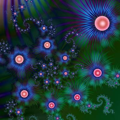 Digital Art - Blue Bouquet by Kiki Art