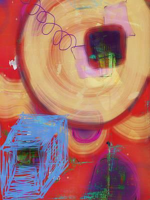Photograph - Blue Box And Circles by Susan Stone
