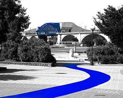 Photograph - Blue Brick Path by   Joe Beasley