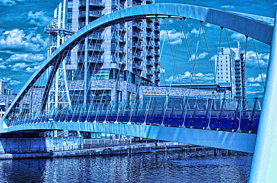 Photograph - Blue Bridge by Graham Hawcroft pixsellpix