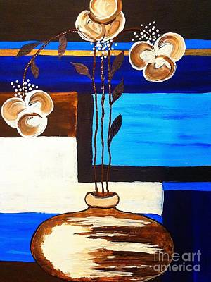 Painting - Blue Buds Floral by Saundra Myles