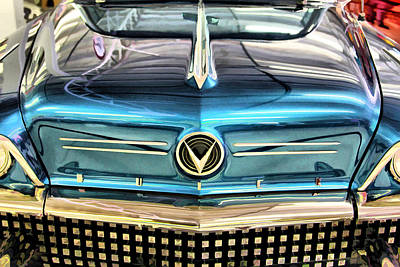 Photograph - Blue Buick by Brian Davis