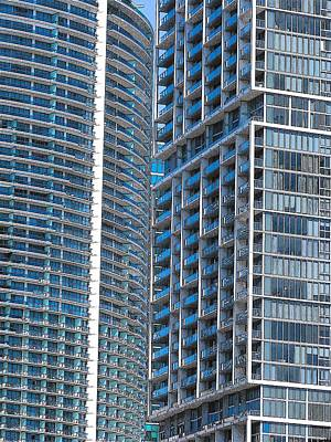Photograph - Blue Buildings Miami by Strangefire Art       Scylla Liscombe