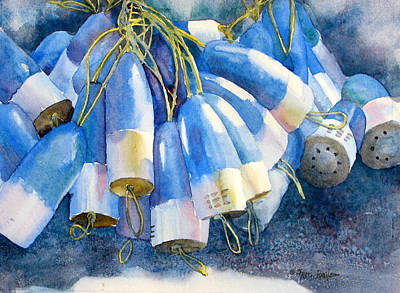 Blue Bouys Painting - Blue Bundle by Sherri Bails
