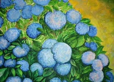 Painting - Blue Bush by Rae Chichilnitsky