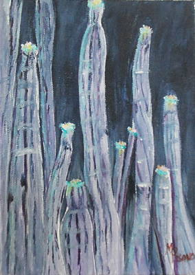 Painting - Blue Cactus by Maureen Pisano