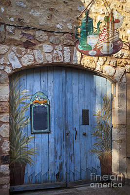 Photograph - Blue Cafe Doors by Brian Jannsen