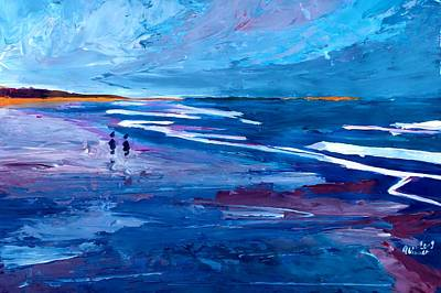 Blue Californian Seascape In Big Sur Art Print