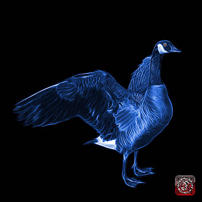 Mixed Media - Blue Canada Goose Pop Art - 7585 - Bb  by James Ahn