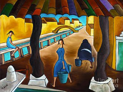 Blue Canal  Art Print
