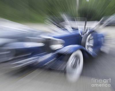 Photograph - Blue Car by Ronald Grogan