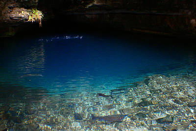 Photograph - Blue Cave Spring by Jon Emery