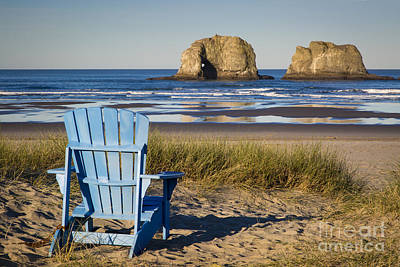 Photograph - Blue Chair by Brian Jannsen