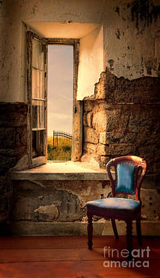 Photograph - Blue Chair By Open Window by Jill Battaglia