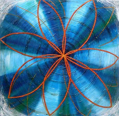 Painting - Blue Chakra by Anne Cameron Cutri