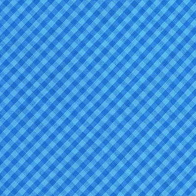 Blue Checkered Diagonal Tablecloth Cloth Background Art Print by Keith Webber Jr