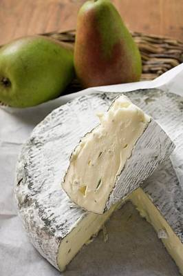 Blue Cheese (bresse Bleu, France) And Pears Art Print